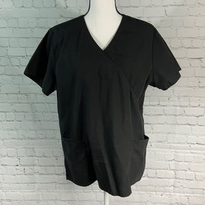 SB L Scrub Top Black